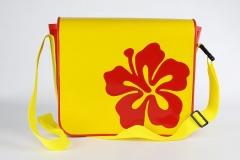 Handtasche-gelb-rot